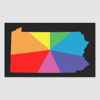 pennsylvania rainbow array rectangular sticker