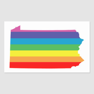 pennsylvania rainbow stripes rectangular sticker