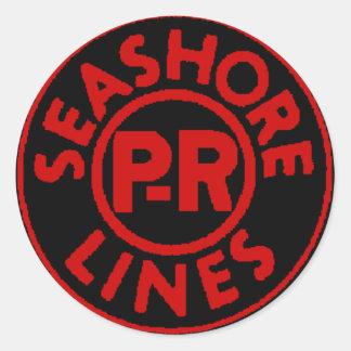 Pennsylvania Reading Seashore Lines Logo Round Sticker