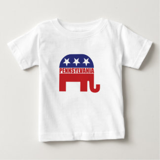 Pennsylvania Republican Elephant Baby T-Shirt