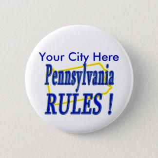 Pennsylvania Rules ! 6 Cm Round Badge