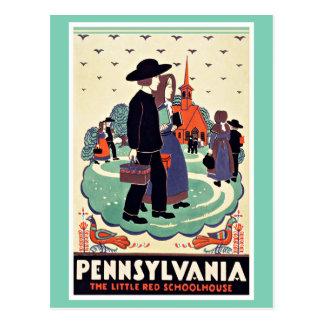 Pennsylvania Schoolhouse Vintage Travel Postcard
