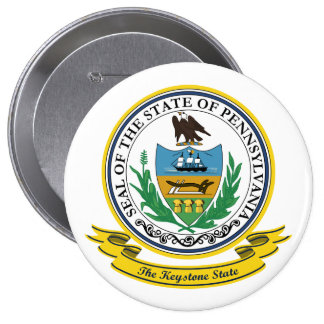 Pennsylvania Seal 10 Cm Round Badge
