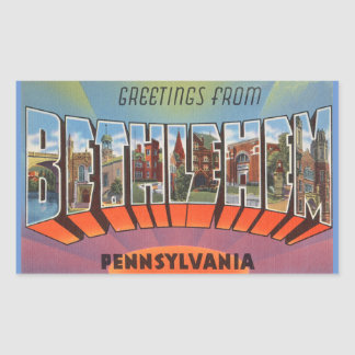 Pennsylvania, Sheet of 4 Bethlehem Stickers