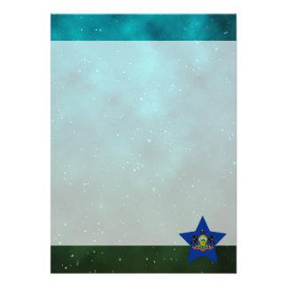 Pennsylvania Star Design Flag 13 Cm X 18 Cm Invitation Card