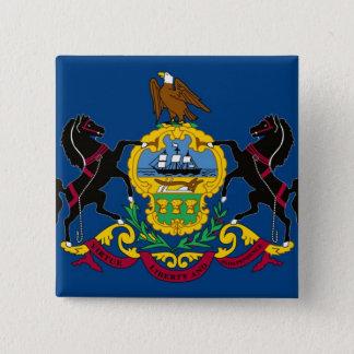 Pennsylvania State Flag 15 Cm Square Badge