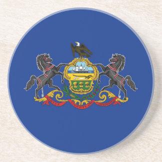 Pennsylvania State Flag Coaster