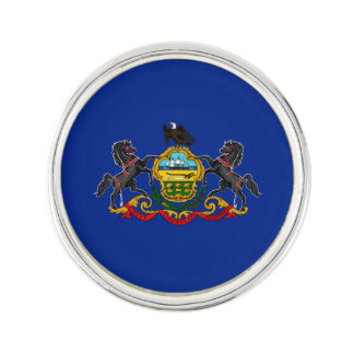 Pennsylvania State Flag Design Lapel Pin
