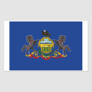 Pennsylvania State Flag Sticker - 4 per sheet