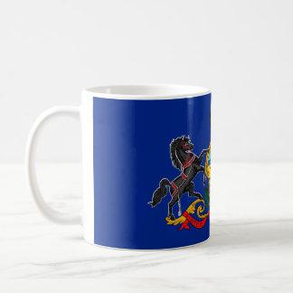 Pennsylvania state flag usa united america symbol coffee mug