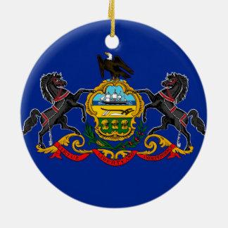 Pennsylvania state flag usa united america symbol round ceramic decoration