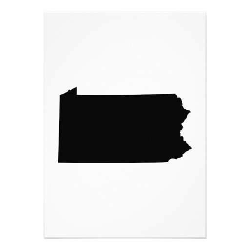 Pennsylvania State Outline Cards