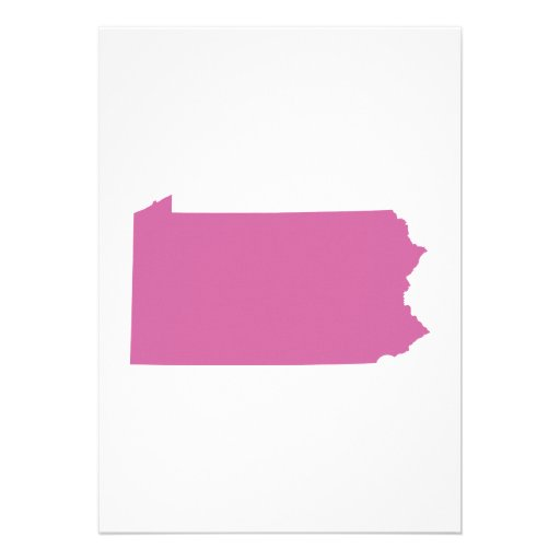 Pennsylvania State Outline Invitations