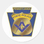 Pennsylvania State Police Round Sticker
