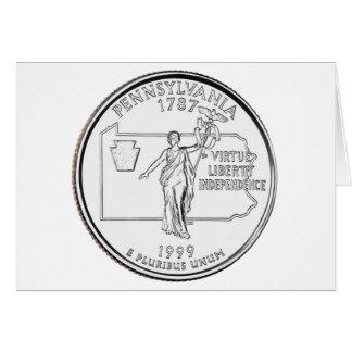 Pennsylvania State Quarter Card