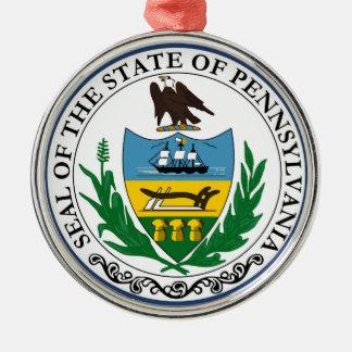 Pennsylvania state seal america republic symbol fl Silver-Colored round decoration