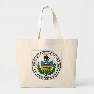 Pennsylvania State Seal Tote Bags