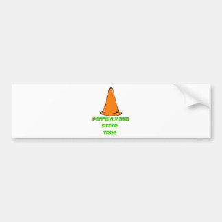 Pennsylvania State Tree Car Bumper Sticker