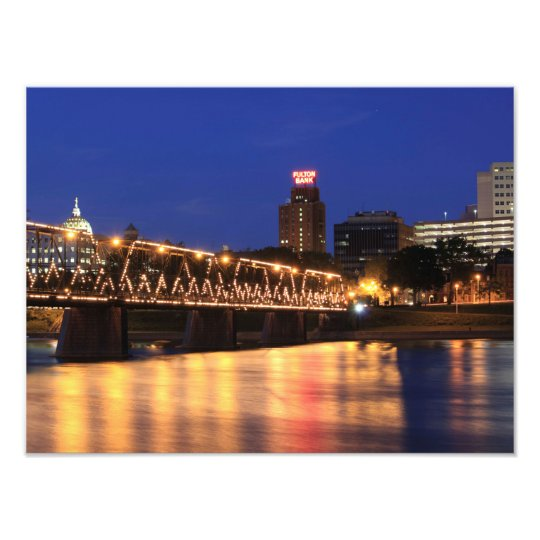 Pennsylvania State Walnut Street Bridge Photo Print