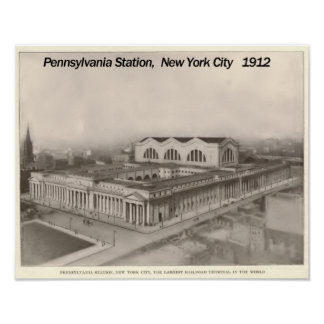 Pennsylvania Station New York 1912 Poster