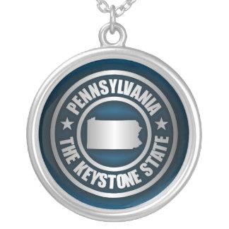 Pennsylvania Steel (B) Round Pendant Necklace
