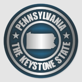 Pennsylvania Steel (B) Round Sticker
