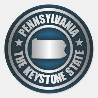 Pennsylvania Steel (B) Round Sticker