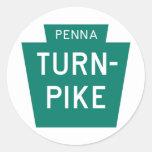 Pennsylvania Turnpike Classic Round Sticker