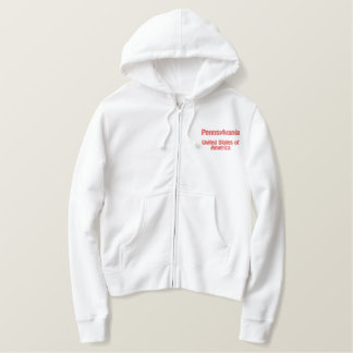 Pennsylvania United States of America Embroidered Hoodie