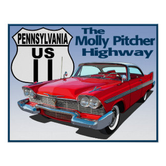 Pennsylvania US Route 11 - The Molly Pitcher Poster