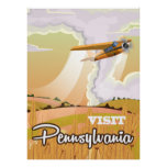 Pennsylvania vintage travel poster