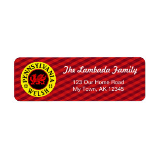 Pennsylvania Welsh American Address Labels