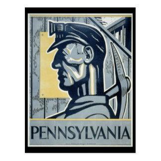 Pennsylvanian Coal Miner Post Cards