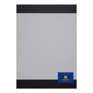 Pennsylvanian flag 13 cm x 18 cm invitation card