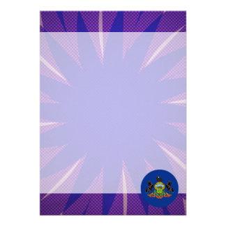 Pennsylvanian Flag Souvenir 13 Cm X 18 Cm Invitation Card
