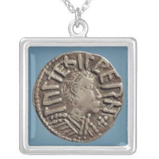 Penny Aethelberht Anglo-Saxon King East Anglia. Silver Plated Necklace