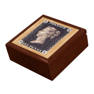 Penny Black Postage Stamp Large Square Gift Box