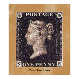 Penny Black Postage Stamp Poster