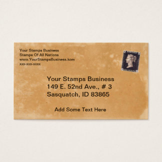 Penny Black Stamp Dealer Business Card