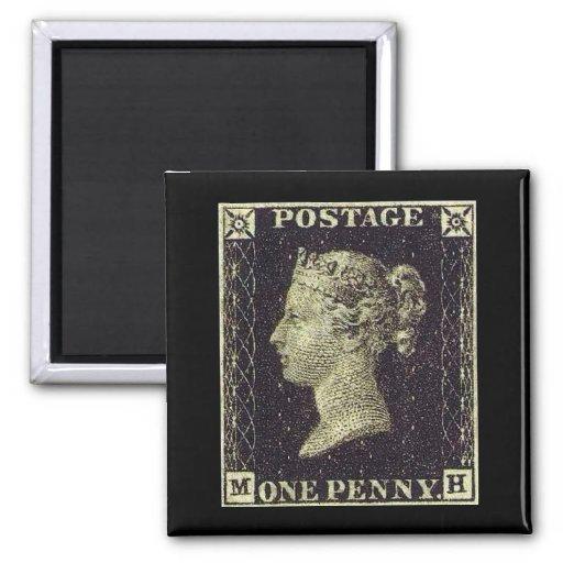 Penny Black Stamp Refrigerator Magnet