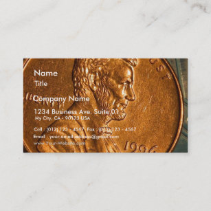 Penny business cards zazzle uk penny cents copper lincoln business card reheart Gallery