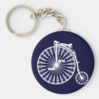 Penny-farthing2 Basic Round Button Key Ring