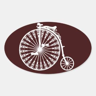 Penny-farthing2 Oval Sticker