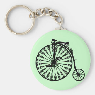 Penny-farthing Basic Round Button Key Ring