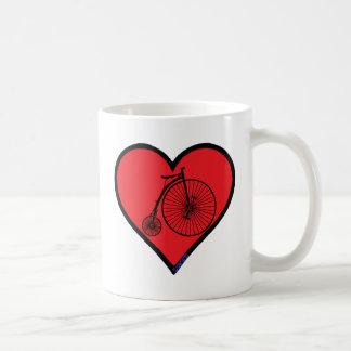 penny farthing basic white mug