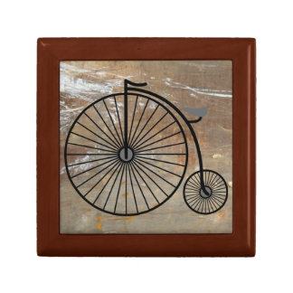 Penny Farthing Bicycle Box Small Square Gift Box