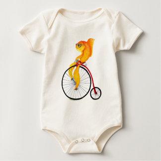 Penny Farthing Fish Baby Bodysuit