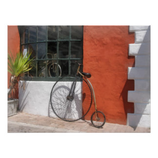 Penny-Farthing in Front of Bike Shop Print