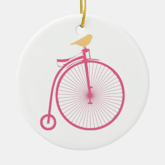Penny Farthing Round Ceramic Decoration