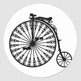 Penny-farthing Round Sticker